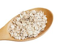 Oats seed in spoon Royalty Free Stock Image