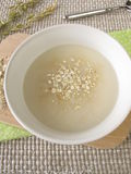 Oats soup. Fresh oats soup in bowl Royalty Free Stock Photo