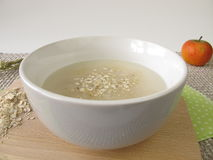 Oats soup. Fresh oats soup in bowl Royalty Free Stock Image