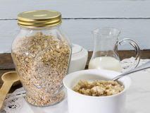 Oats on a table Royalty Free Stock Image