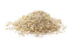 Oats on White Background Royalty Free Stock Photo