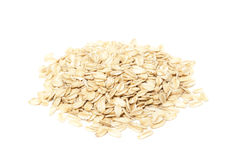 Oats on white Stock Photography