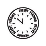 oavgjord symbol för patent som isoleras på vit bakgrund royaltyfri illustrationer