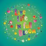 Oavkortad blom för levande liv stock illustrationer