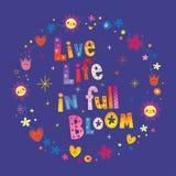Oavkortad blom för levande liv vektor illustrationer