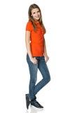 Oavkortad längd för Carefree tonårs- flicka arkivfoto