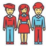 Oavkortat kroppbegrepp för man och för kvinna royaltyfri illustrationer
