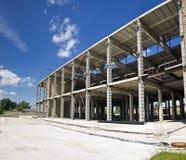 Oavslutad industriell byggnad Royaltyfri Fotografi