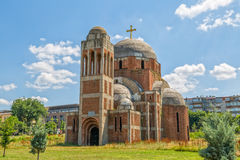 Oavslutad ortodox domkyrka i Pristina Royaltyfria Foton