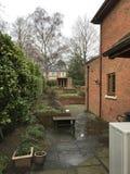 Oavslutad trädgård av mitt hus Fotografering för Bildbyråer