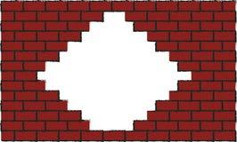 oavslutad vägg för tegelsten _ Arkivbild