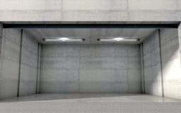 oavslutat fönster för dubbelt garage Arkivfoton