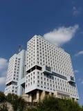 Oavslutat hus av sovjet i Kaliningrad royaltyfri fotografi