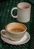 Oavslutat kaffe royaltyfri fotografi
