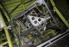 Oavslutat sovjetiskt rymdskepp för utrustning royaltyfria foton
