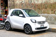 Smart Fortwo. Oaxaca, Mexico - May 25, 2017: Motor car Smart Fortwo in the city street Royalty Free Stock Photo