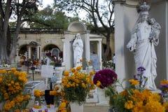 Oaxaca, Mexico-November 1, 2016: Oaxaca Cemetery Stock Images