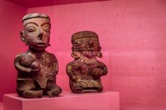 Prehispanic art at Rufino Tamayo Museum in Oaxaca Mexico. Oaxaca, Oaxaca / Mexico - 21/7/2018: Prehispanic art at Rufino Tamayo Museum in Oaxaca Mexico royalty free stock image
