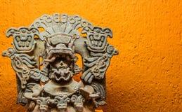 Prehispanic art at Rufino Tamayo Museum in Oaxaca Mexico. Oaxaca, Oaxaca / Mexico - 21/7/2018: Prehispanic art at Rufino Tamayo Museum in Oaxaca Mexico royalty free stock images