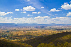Oaxaca view from Monte Alban Royalty Free Stock Image