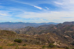 Oaxacan Mountains. The landscape around Hierve El Agua in Oaxaca, Mexico Stock Image