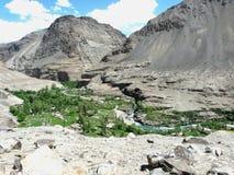 Oaza w Pamir górach Zdjęcie Stock
