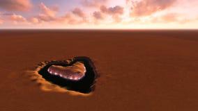 Oazy serce pustynia. Zdjęcia Stock