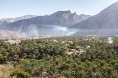 Oazy wioska w Oman Obrazy Stock