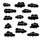 Obłoczny ikona set Wektorowi mieszkanie znaki Niebo Cloudscape Odosobneni przedmioty ilustracja wektor