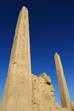 Obélisque dans le temple de Karnak Photo libre de droits