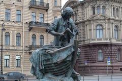 Obélisque de St Petersbourg l'exécution du Decembrists Images stock