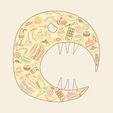 Obésité de bonbon illustration stock