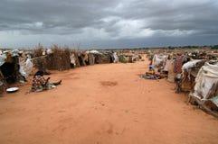 obóz chmurnieje Darfur nad deszczem obrazy royalty free