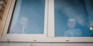 Obóz dla uchodźców dzieci od Donbass obrazy royalty free