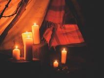 Obóz iluminujący pomarańcze, Obraz Royalty Free