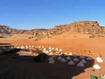 obóz Jordan rumu wadi Obraz Stock