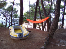 Obóz letni na plaży zdjęcie royalty free