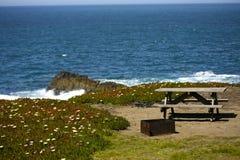 Obóz oceanem Zdjęcie Royalty Free