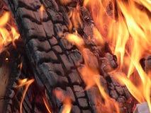 obóz ogień zdjęcie royalty free