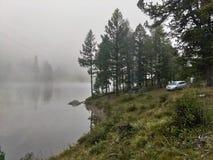 Obóz przy jeziorem fotografia royalty free