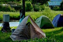 Obóz rowerzyści w Suzdal Fotografia Royalty Free