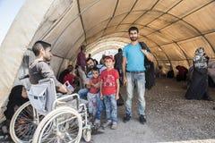 Obóz uchodźców dla syryjskich ludzi w Turcja Wrzesień 7, 2017 Suruc, Turcja Zdjęcie Royalty Free