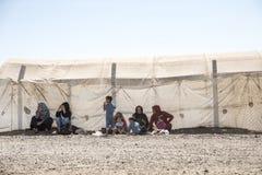 Obóz uchodźców dla syryjskich ludzi w Turcja Wrzesień 7, 2017 Suruc, Turcja Obrazy Royalty Free