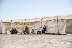 Obóz uchodźców dla syryjskich ludzi w Turcja Wrzesień 7, 2017 Suruc, Turcja Zdjęcia Royalty Free