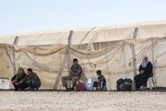 Obóz uchodźców dla syryjskich ludzi w Turcja Wrzesień 7, 2017 Suruc, Turcja Fotografia Stock