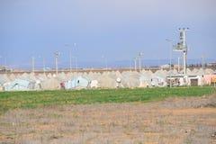 Obóz uchodźców Zdjęcia Royalty Free