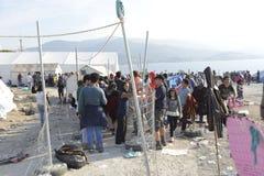 Obóz uchodźców Lesvos Grecja Obraz Royalty Free