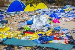 Obóz uchodźców Lesvos Grecja Fotografia Stock