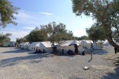 Obóz uchodźców Lesvos Grecja Obrazy Royalty Free
