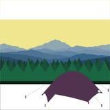 Obóz w lesie Zdjęcia Royalty Free